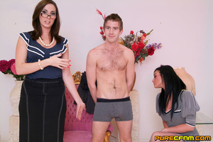 A young lad having four gorgeous ladies  - XXX Dessert - Picture 1