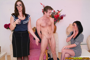 A young lad having four gorgeous ladies  - XXX Dessert - Picture 2