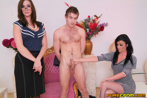 A young lad having four gorgeous ladies  - XXX Dessert - Picture 3