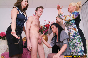 A young lad having four gorgeous ladies  - XXX Dessert - Picture 6