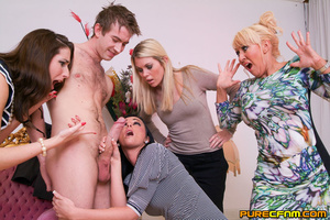 A young lad having four gorgeous ladies  - XXX Dessert - Picture 7