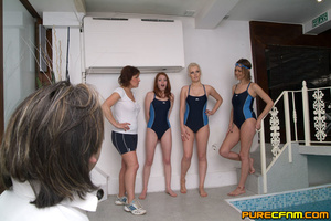 Sporty gorgeous swimming ladies gave him - XXX Dessert - Picture 1