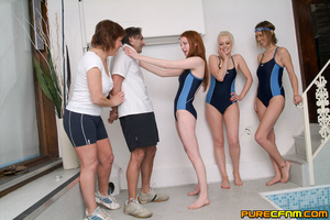 Sporty gorgeous swimming ladies gave him - XXX Dessert - Picture 3