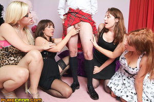 A man in skirt got his dick caught in th - XXX Dessert - Picture 6