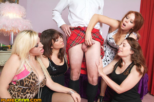 A man in skirt got his dick caught in th - XXX Dessert - Picture 10