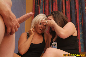 Stunned with a stiff dick, two naughty k - XXX Dessert - Picture 8