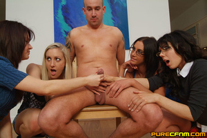 Tied in a chair, four nasty naughty ladi - XXX Dessert - Picture 15