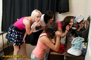 A peeping tom's dream when four sexy hot - XXX Dessert - Picture 1