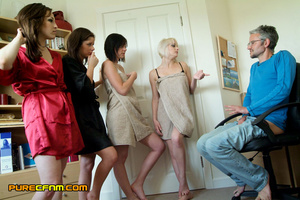 A peeping tom's dream when four sexy hot - XXX Dessert - Picture 6