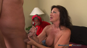 A retard watches big momma do a perfect  - XXX Dessert - Picture 10
