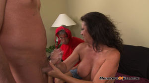 A retard watches big momma do a perfect  - XXX Dessert - Picture 11