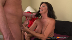 A retard watches big momma do a perfect  - XXX Dessert - Picture 12