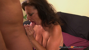 A retard watches big momma do a perfect  - XXX Dessert - Picture 14