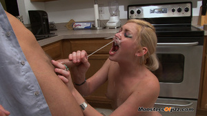 A crazy blowjob done in kitchen - XXX Dessert - Picture 12