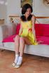 teen sexy yellow dress