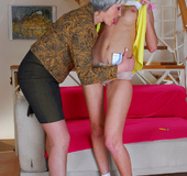 Finding a hidden item in the panty leads into hot lesbian play