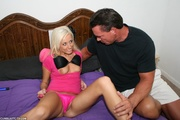 young sexy blond lollipopped