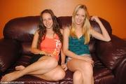two lusty teens enjoying