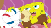 lusty spongebob pulls down