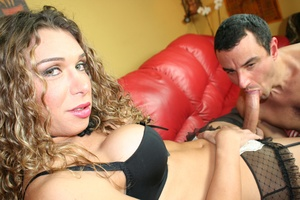 Shemale babes cream stud's face after fu - XXX Dessert - Picture 5