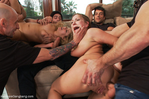 Two chicks pounded badly by a group of h - XXX Dessert - Picture 4