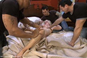 Nasty blonde bitch getting all her holes - XXX Dessert - Picture 3