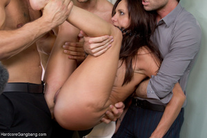Busty lady-boss gets roped and fucked ha - XXX Dessert - Picture 4