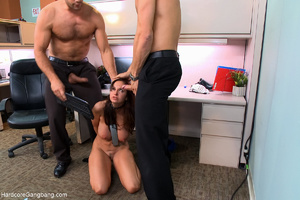 Busty lady-boss gets roped and fucked ha - XXX Dessert - Picture 5