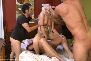 Nasty blonde bitch getting all her holes - XXX Dessert - Picture 6