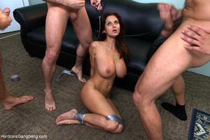 Busty lady-boss gets roped and fucked ha - XXX Dessert - Picture 10