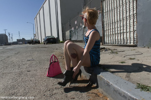 Punk-girl gangbanged badly in the back s - XXX Dessert - Picture 1