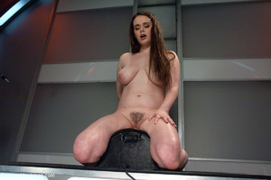 Busty brunette with shaggy snatch trying - XXX Dessert - Picture 6