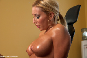 Busy blonde enjoys banging with a sybian - XXX Dessert - Picture 6