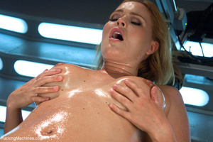 Busty blond chick cumming when riding a  - XXX Dessert - Picture 2