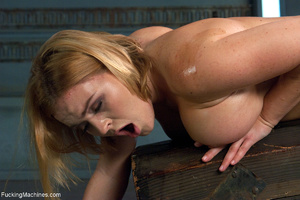 Busty blond chick cumming when riding a  - XXX Dessert - Picture 6
