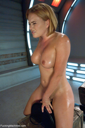 Busty blond chick cumming when riding a  - Picture 7