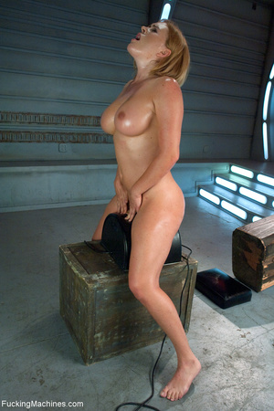 Busty blond chick cumming when riding a  - XXX Dessert - Picture 8