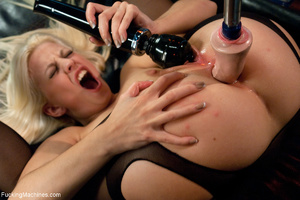 Small-titted blonde in stockings enjoys  - XXX Dessert - Picture 5
