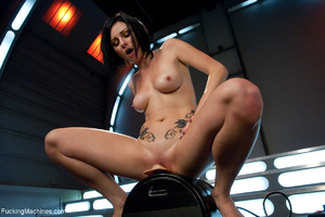 Tattooed brunette bitch trying a fucking - XXX Dessert - Picture 8