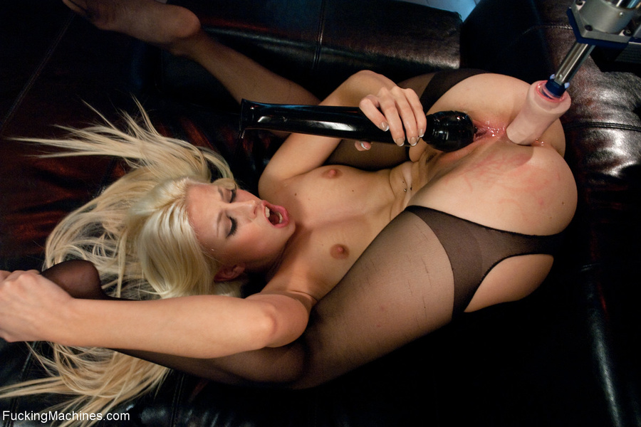 Small-titted blonde in stockings enjoys cum - XXX Dessert - Picture 6