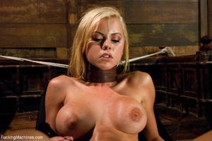 Blonde slut in a collar two holes banged - XXX Dessert - Picture 3