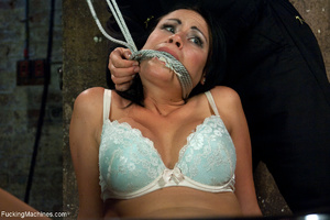 Gag-balled busty brunette pounded badly  - XXX Dessert - Picture 1