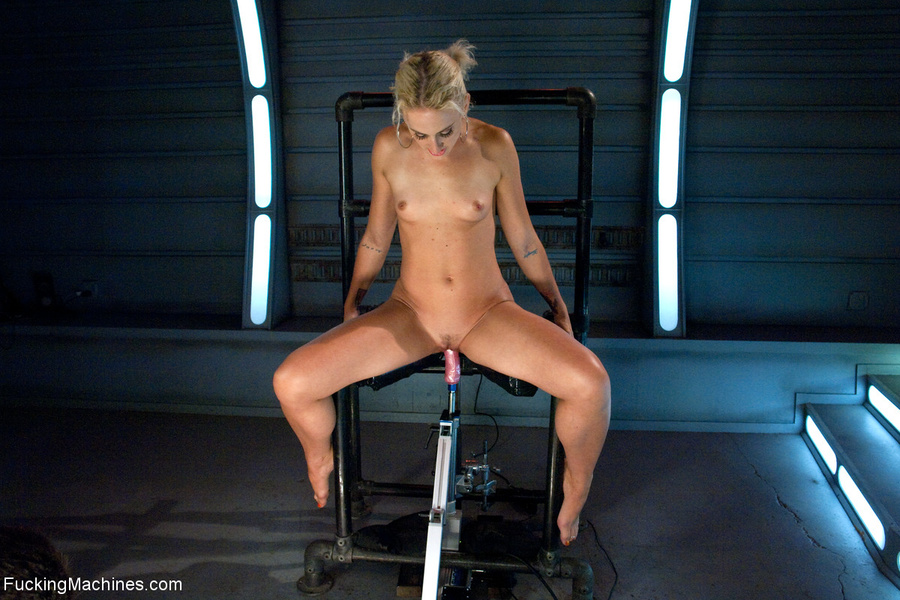 Blonde whore gets her holes screwed with a  - XXX Dessert - Picture 7