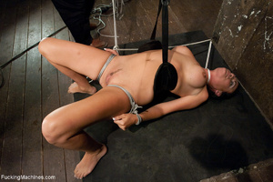 Gag-balled busty brunette pounded badly  - XXX Dessert - Picture 4