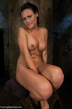 Gag-balled busty brunette pounded badly  - XXX Dessert - Picture 9