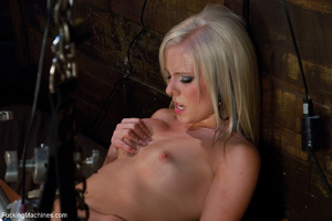 Gag-balled chick cumming constantly with - XXX Dessert - Picture 2