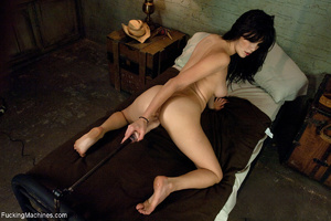 Brunette bitch getting high on a sling-s - XXX Dessert - Picture 7