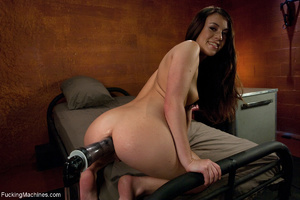 Brunette chick stuffs her hand into her  - XXX Dessert - Picture 5