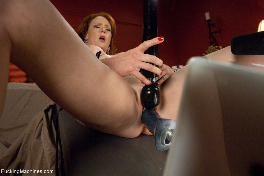 Red MILF gets all her holes plugged with fu - XXX Dessert - Picture 5