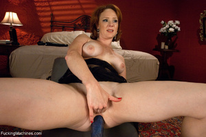 Red MILF gets all her holes plugged with - Picture 6